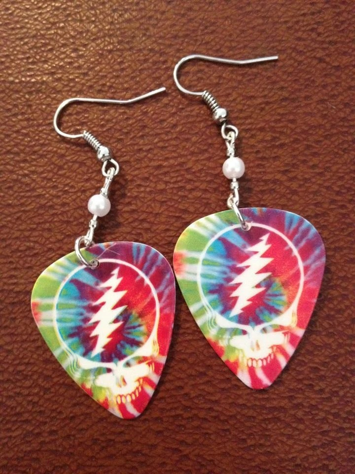 Grateful Dead Steal Your Face Tie-Dye Earrings