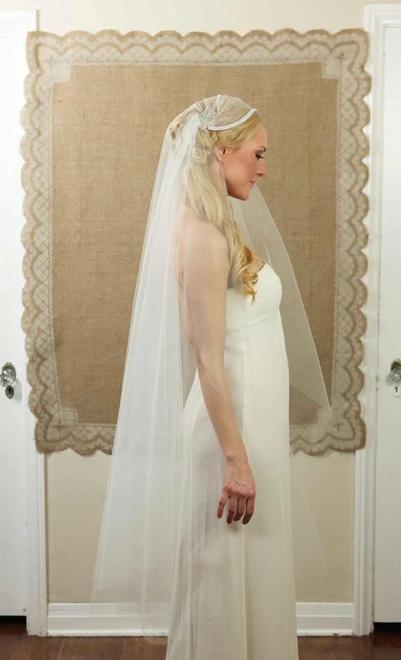 NEW 55 Inch Anastasha Bridal Cap Wedding Veil