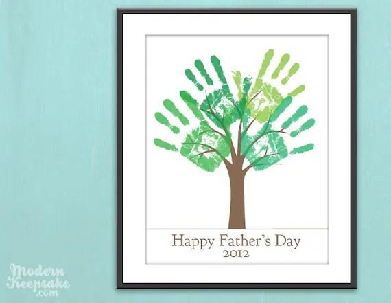 Fathers Day Gift - DIY Child's Handprint Tree - Printable pdf