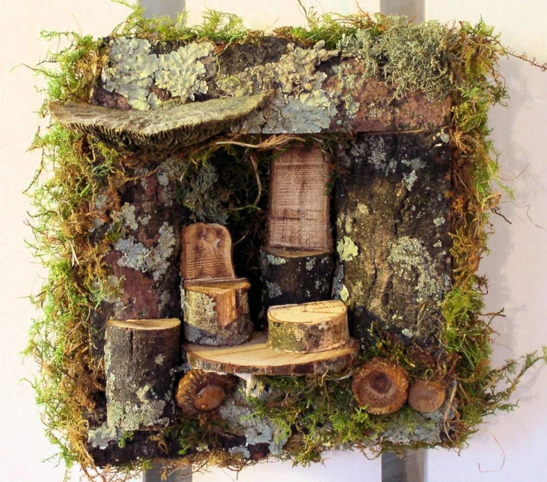 Sculpted Woodland Fairy House 3D Wall Art