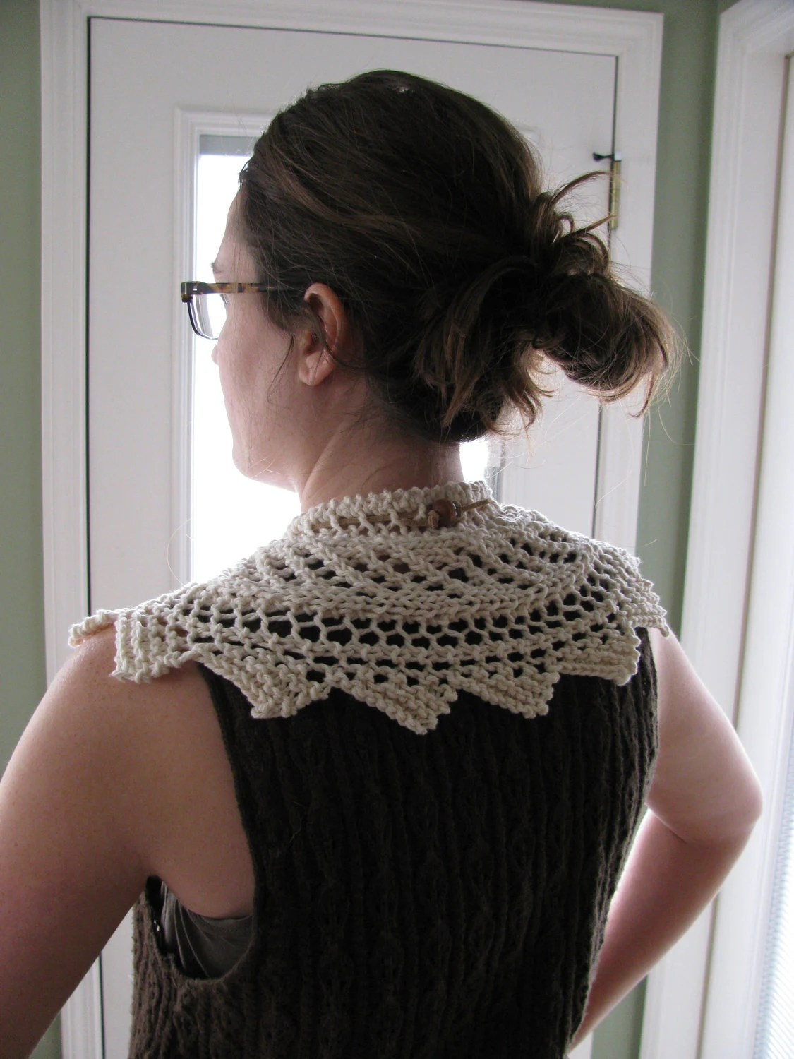 Drawstring Victorian Lace Collar