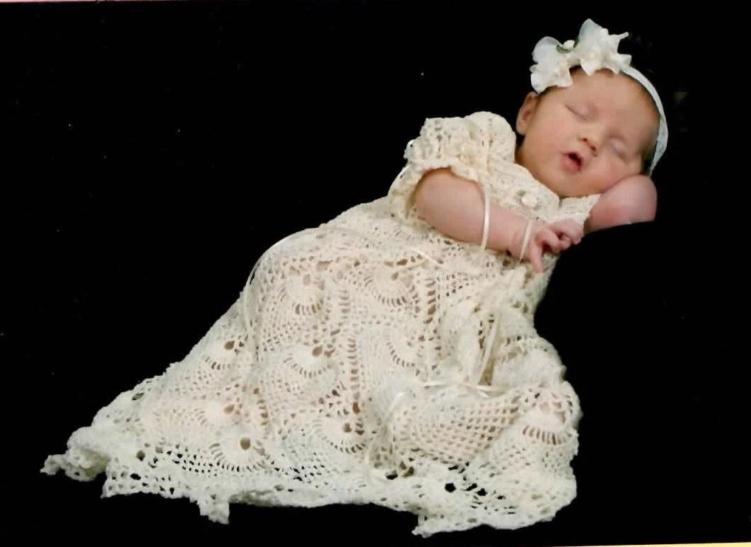 Knitted Christening Baby Blanket Pattern