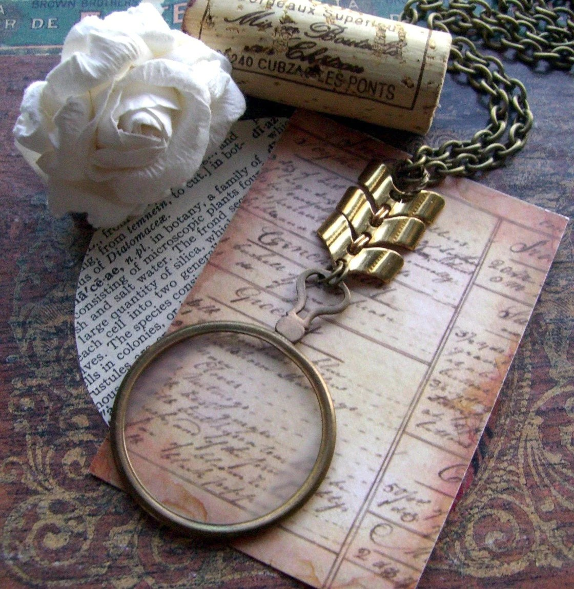 Antique Monocle Necklace