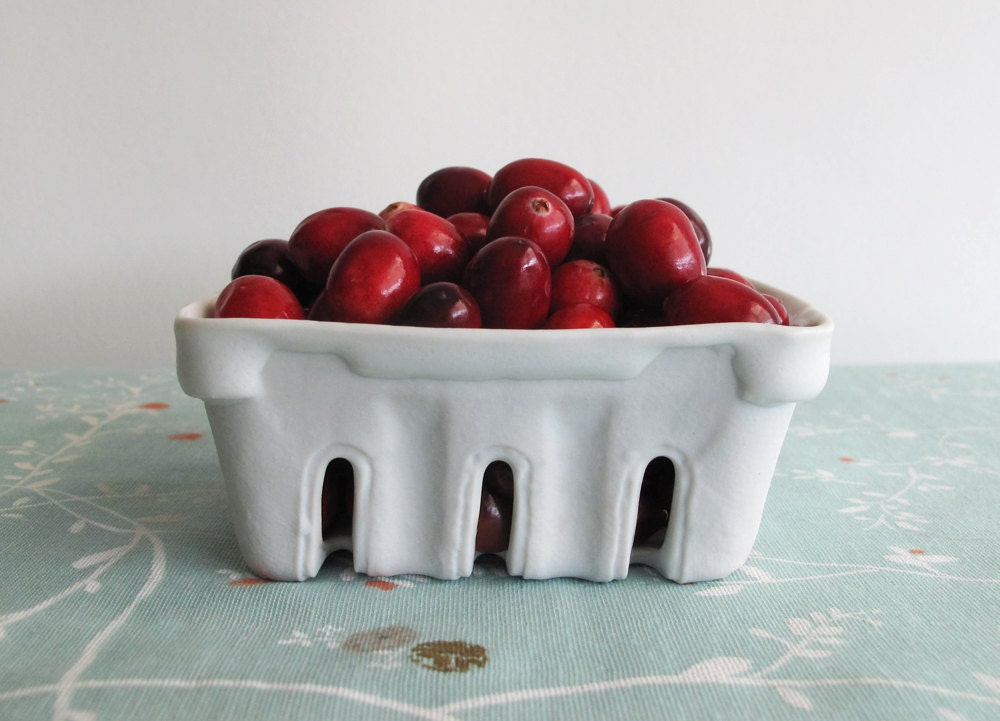 Porcelain Berry Basket by Forest Clearing