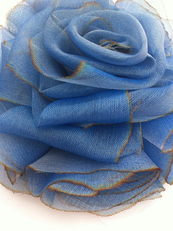 Angelica Brigade silk floral clip in custom colors & sizes by joyz*k as seen on La Carmina LaCarmina & Yukiro Dravarious in LaCarmina.com