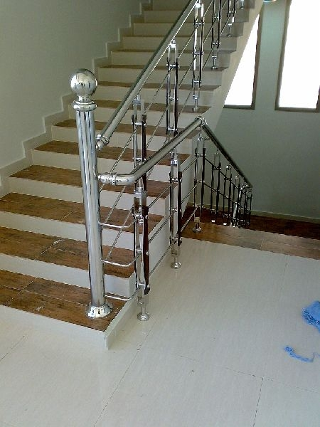 Stainless Steel Staircase Railing Designs India | Stainless Steel For Stairs | Contemporary | Modern | Outdoor | Home | Balustrade