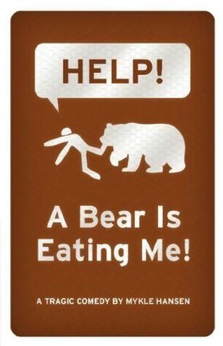 help a bear is eating