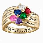 Custom Two Stone Mothers Ring