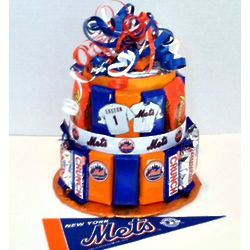 Ny Mets Baseball Candy Bar Cake Findgift Com