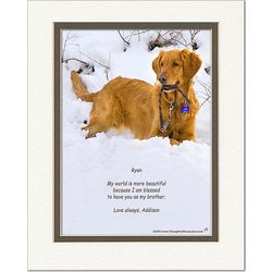 Personalized Friend or Family Poem Dog in Snow Print ...