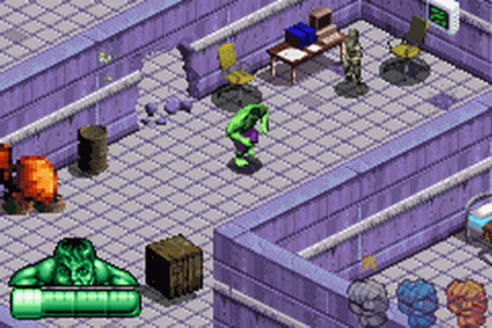 Play Incredible Hulk  The Nintendo Game Boy Advance online   Play     Incredible Hulk  The ingame screenshot