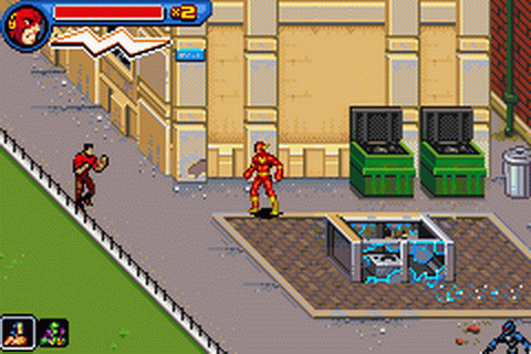 Play Justice League Heroes   The Flash Nintendo Game Boy Advance     Justice League Heroes   The Flash ingame screenshot