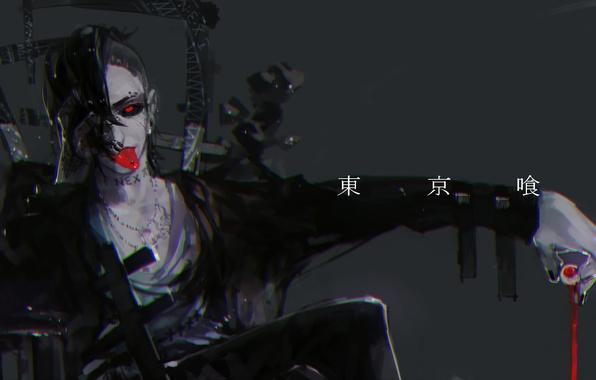 Обои Токийский Гуль, Uta, Tokyo Ghoul, красный глаз ...