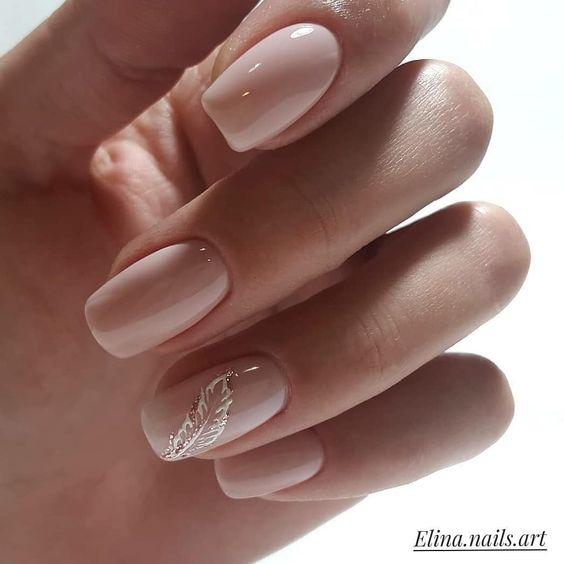 дизайн ногтей нюд 5