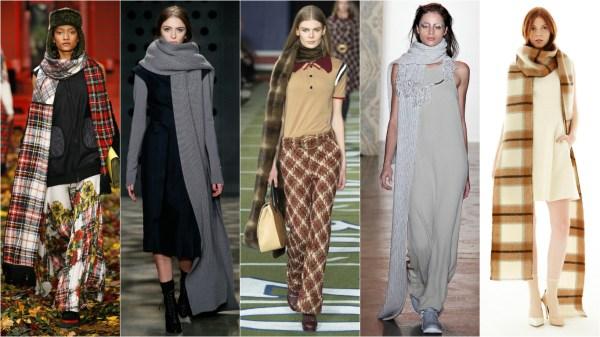 Как правильно носить шарф: модные шарфы на осень-зиму 2015 ...