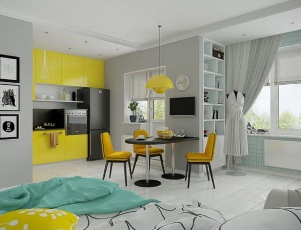 Как обустроить квартиру-студию: дизайн интерьера квартиры ...