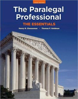 book cover for The Paralegal Professional