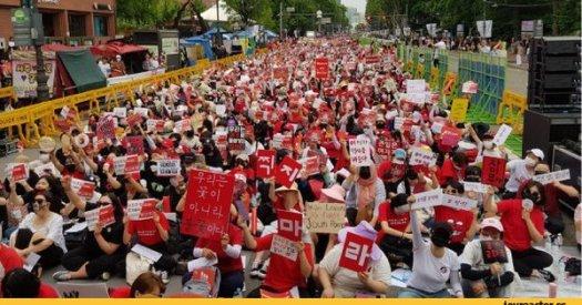 Южная Корея,страны,демонстрация,женский протест,камеры