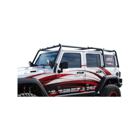 mbrp jeep wrangler jk full length roof rack extension 4 door mbrp 2007 2009 jeep wrangler jk full length roof rack extension 4 door