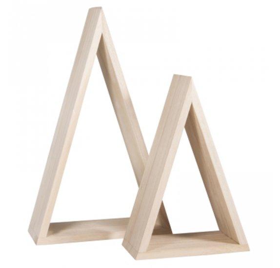 cadres en bois rayher triangles qte 2
