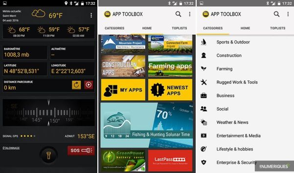 DziNS4u : le meilleur du High tech réuni screen1cat Caterpillar S60 - IP68 - 1.5GHz - 32 Go - 13/5 MP - 4G - Android 6.0