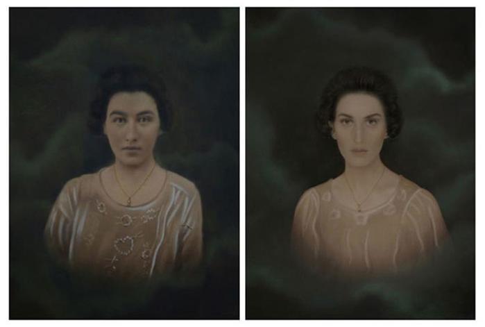 Сравнение своих фотографии и фотографий бабушек