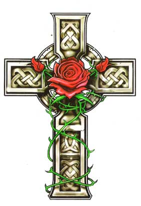 celtic-cross-with-rose (282x410, 16Kb)