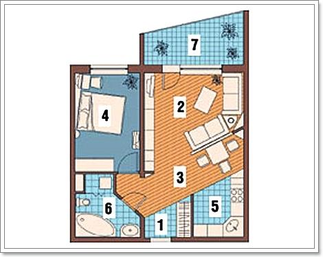 Проекты перепланировки 1 комнатных квартир » Современный ...