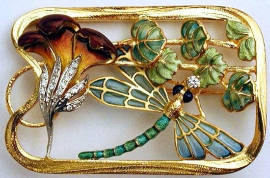 Image result for art nouveau jewelry - insects