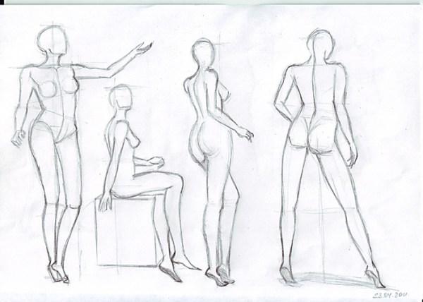 как рисовать эскиз модели поэтапно - Мода