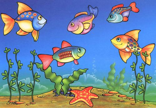 """Поймай рыбку"" лото картинки с рыбками для детей ..."