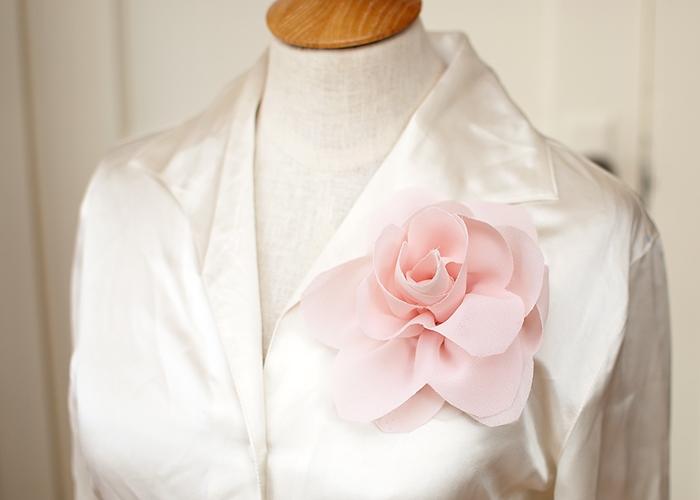 Giyim kumaş çiçek süslemeleri.  Georgette bir LOTUS (15) (700x500, 168KB)