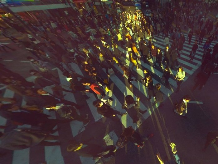 Телевизионщики, снимающие митинги, были бы в восторге (камера над толпой)