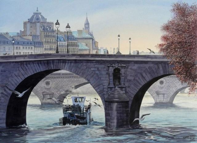 Весна в самых романтичных местах Европы. Нежные акварельные картины