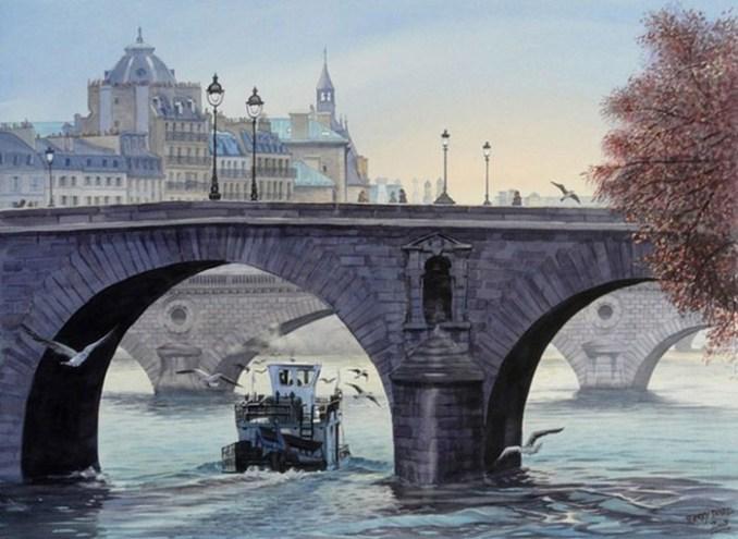 Художник Тьерри Дюваль: романтические места Европы на акварельных картинах