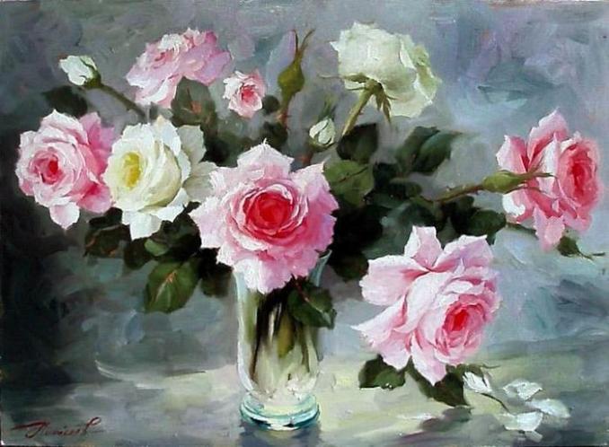 Розы художника Юрия Николаева