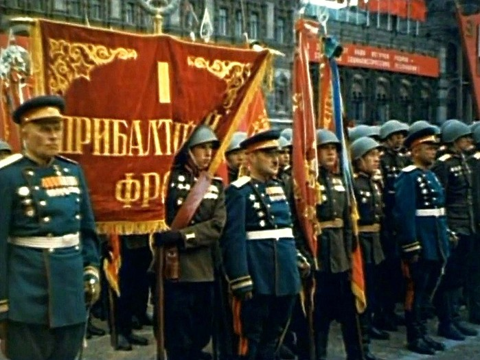 Цветные фото парада Победы в 1945 году