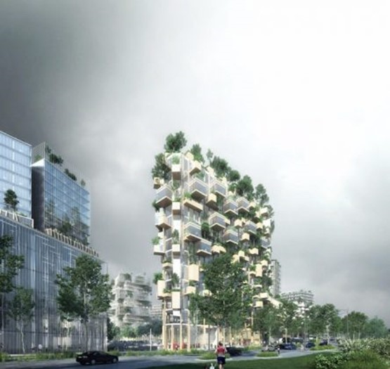 В Париже появится засаженный деревьями многоэтажный дом