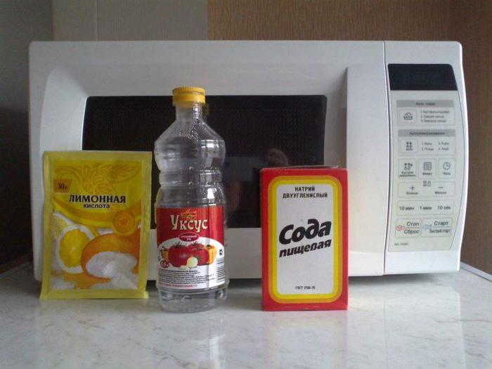 Как быстро очистить микроволновку от жира