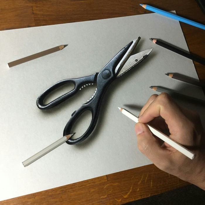 Гиперреализм в рисунках Марселло Баренги