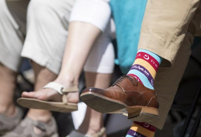Яркие носки канадского премьер министра Джастина Трюдо