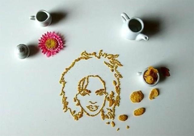 Портреты знаменитостей из кукурузных хлопьев
