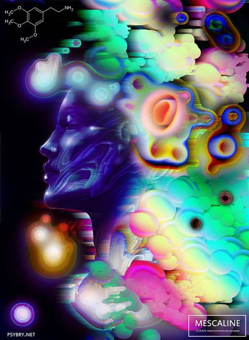 Художник принял 20 наркотиков, чтобы показать нам их воздействие на мозг человека