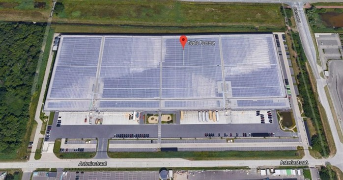 Как выглядит первый европейский завод Tesla на солнечных батареях