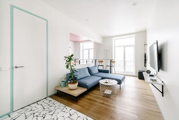 Интерьер московской квартиры площадью 53 кв. м: дизайн студии Buro5