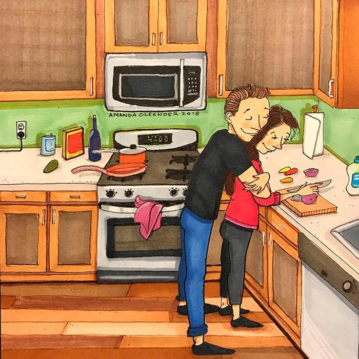 Эта художница знает, как выглядит любовь, когда вас двоих никто не видит
