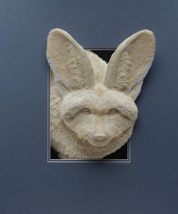 Келвин Николлс: бумажные 3D скульптуры животных и птиц