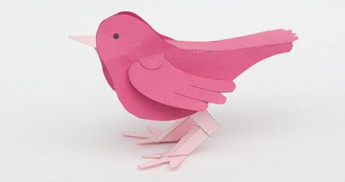 Птица из бумаги: своими руками