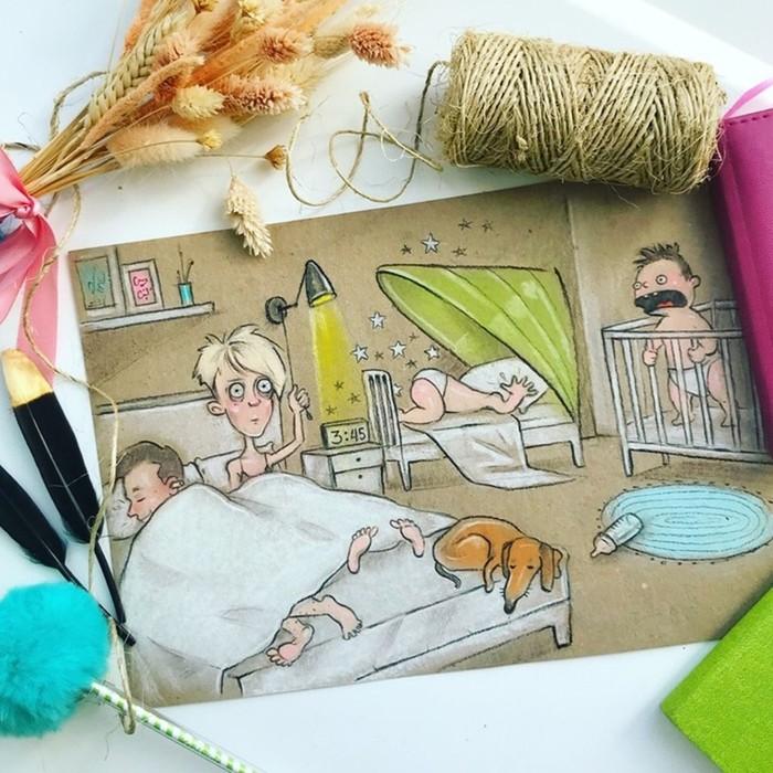 Смешные иллюстрации про будни российской мамы
