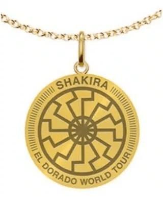 Певица Шакира продавала ожерелье с нацистским символом Черного солнца